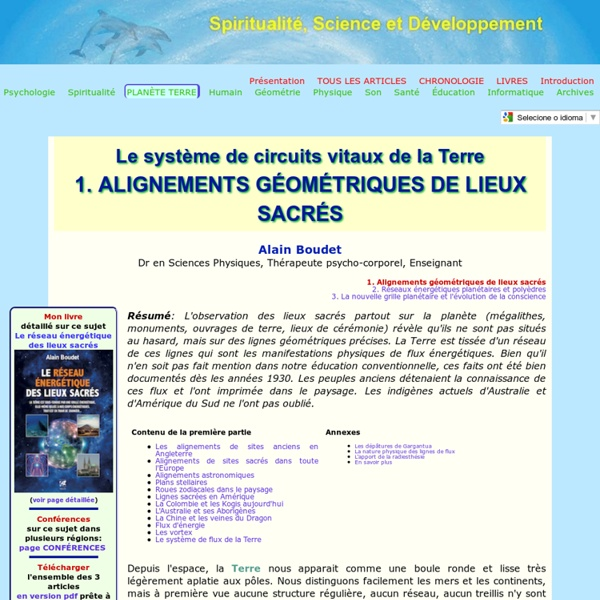 Alignements de sites sacrés de la Terre