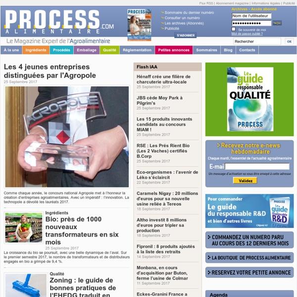 Process Alimentaire, le magazine de l'industrie agroalimentaire