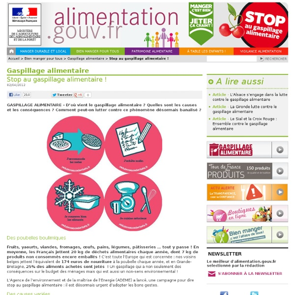 ALIMENTATION_GOUV_FR 19/11/10 Manger durable et local - Stop au gaspillage alimentaire !