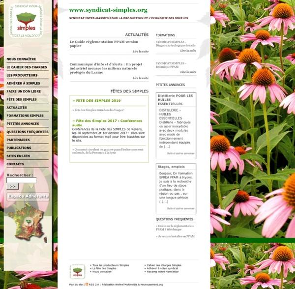 Syndicat des Simples, producteurs-cueilleurs de plantes médicinales aromatiques, alimentaires, cosmétiques et tinctoriales