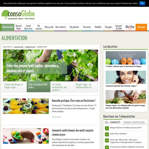 "Consoblog, articles ""Alimentation"""