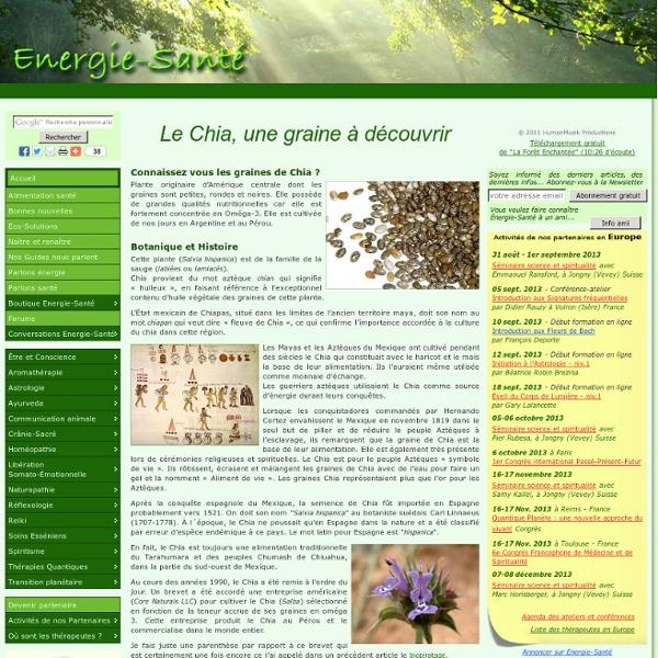 Le Chia, une graine à découvrir