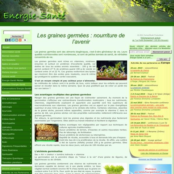 Les graines germées : nourriture de l'avenir