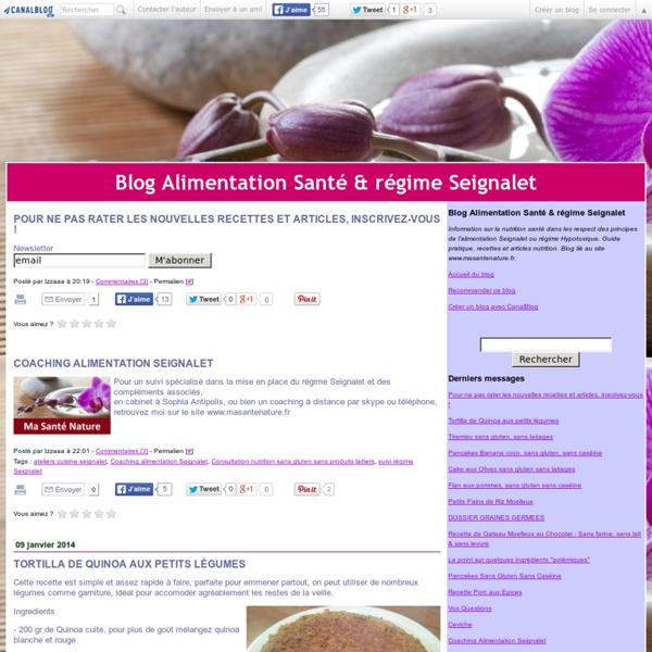 Blog Alimentation Santé & régime Seignalet