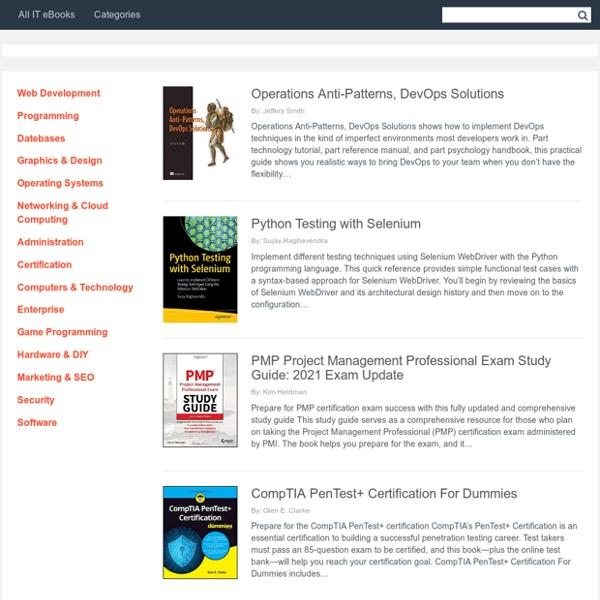 All IT eBooks - Free IT eBooks Download
