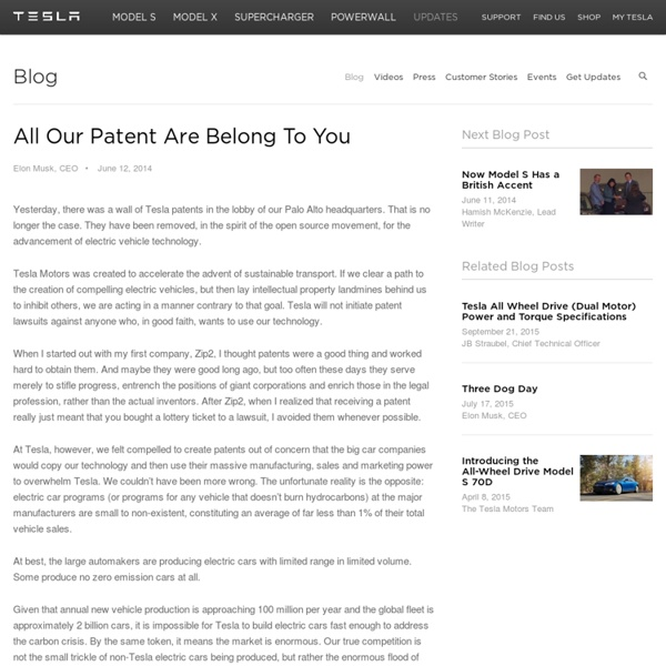 All Our Patent Are Belong To You