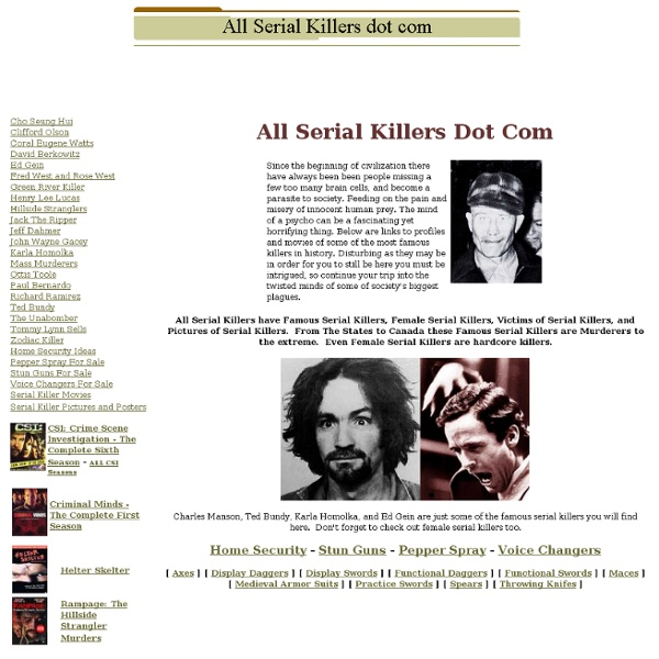 All Serial Killers dot com