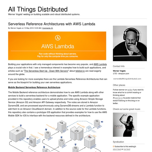 All Things Distributed
