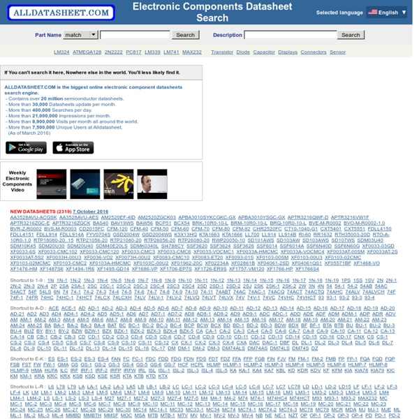 ALLDATASHEET.COM - Datasheet search site, Datasheet search site for Electronic Components and Semiconductors and other semiconductors.
