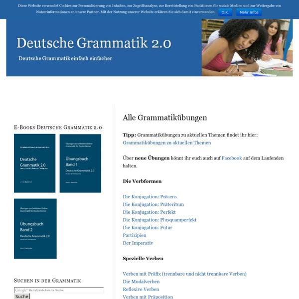 Alle Grammatikübungen — Deutsche Grammatik 2.0