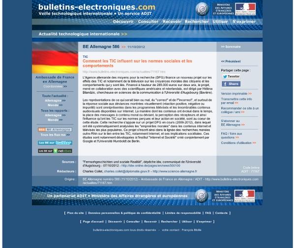 Comment les TIC influent sur les normes sociales et les comportements