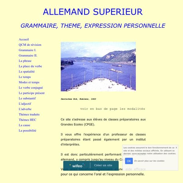 ALLEMAND SUPERIEUR : GUIDE DE GRAMMAIRE ET DE THEME