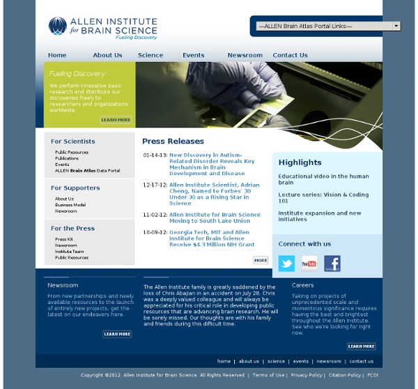 Allen Institute for Brain Science: Home