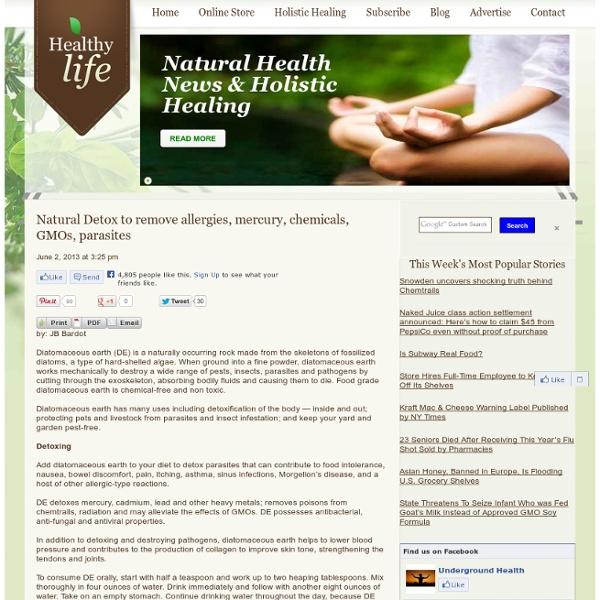 Natural Detox to remove allergies, mercury, chemicals, GMOs, parasites