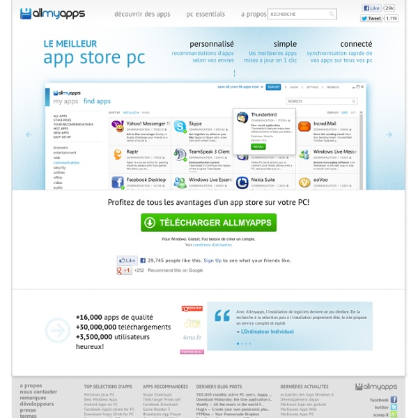 App Store Allmyapps - Windows Application Store for PC and Web Apps