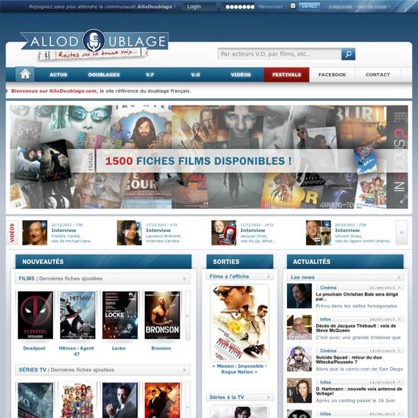 AlloDoublage.com, le site référence du doublage français.