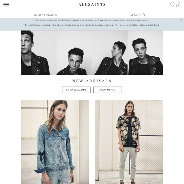 ALLSAINTS UK: Iconic Leather Jackets, Clothing & Accessories