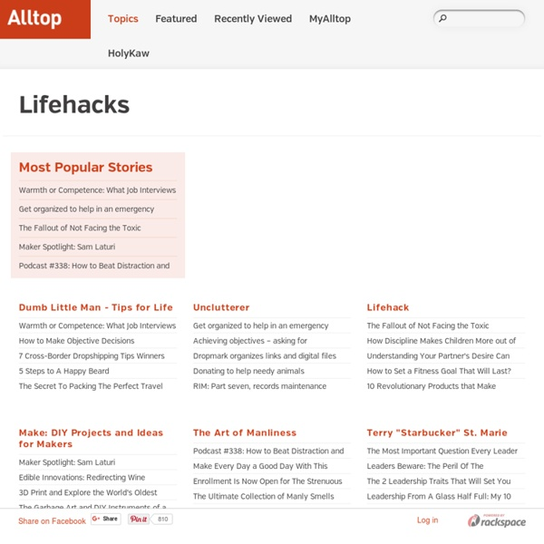 Alltop - Top Lifehacks News