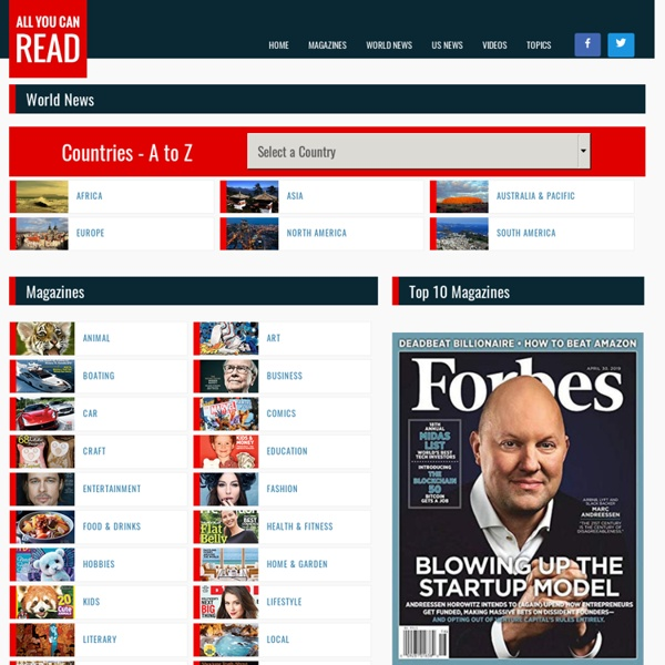 AllYouCanRead.com - The best selection of magazines and news sites from 200 countries