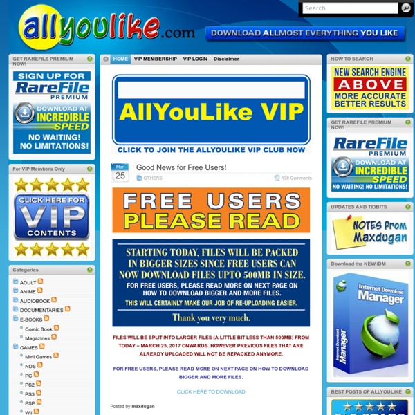 Allyoulike has the best rapidshare links of all you like