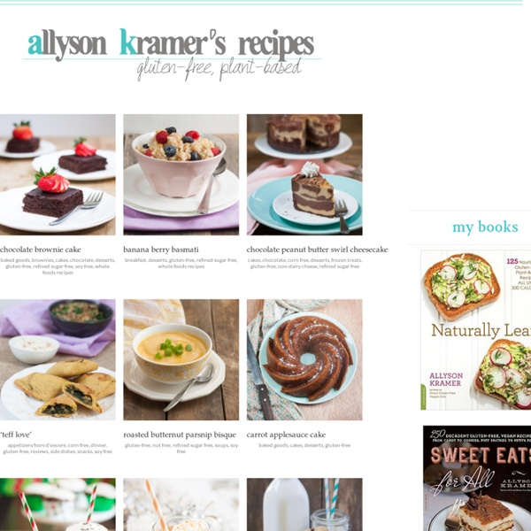 Gluten-free, Egg-free and Dairy-free Recipes
