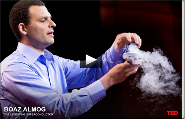 "Boaz Almog ""levitates"" a superconductor"