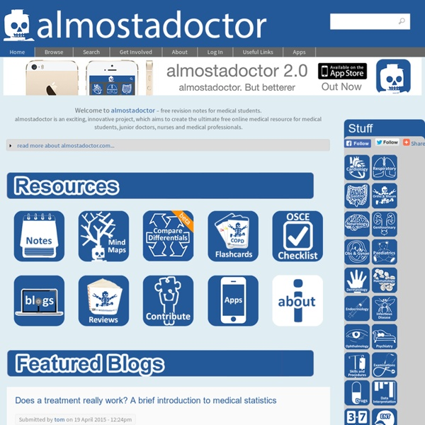 Almostadoctor.com - free medical student revision notes