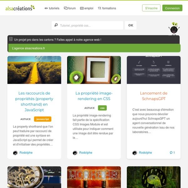 Alsacréations : Actualités et tutoriels HTML, HTML5, CSS, CSS3, standards du web