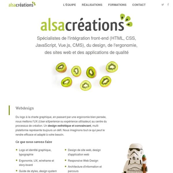 Alsacréations. Agence web, création de site et formations web