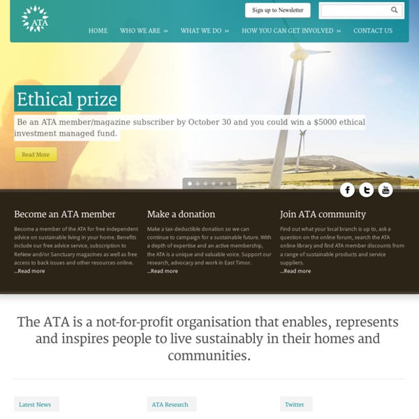 Alternative Technology Association website