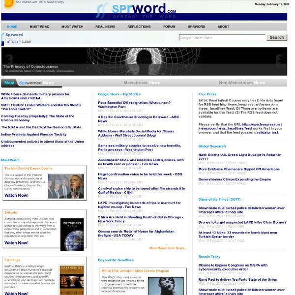 Alternative Non-mainstreams News