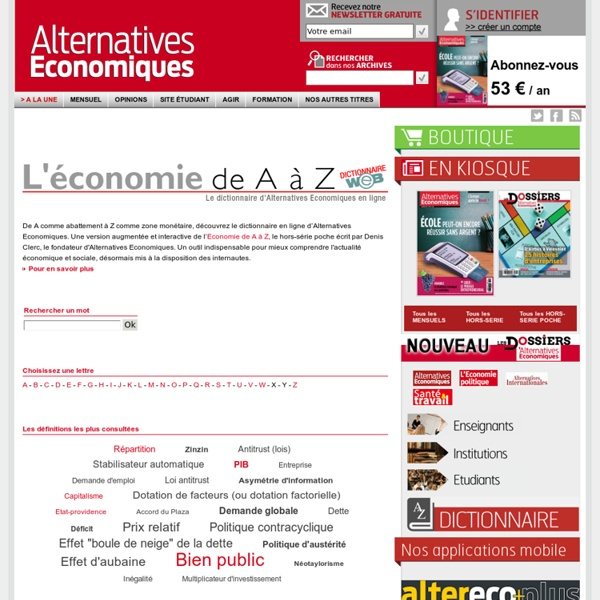 Dictionnaire - Alternatives économiques