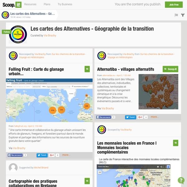 Les cartes des Alternatives - Géographie de la transition