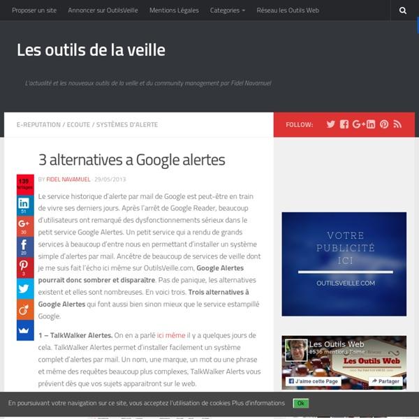3 alternatives a Google alertes