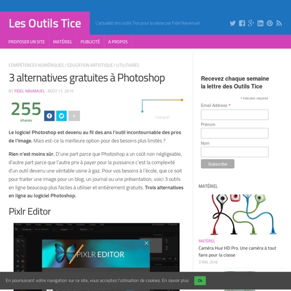 3 alternatives gratuites à Photoshop – Les Outils Tice