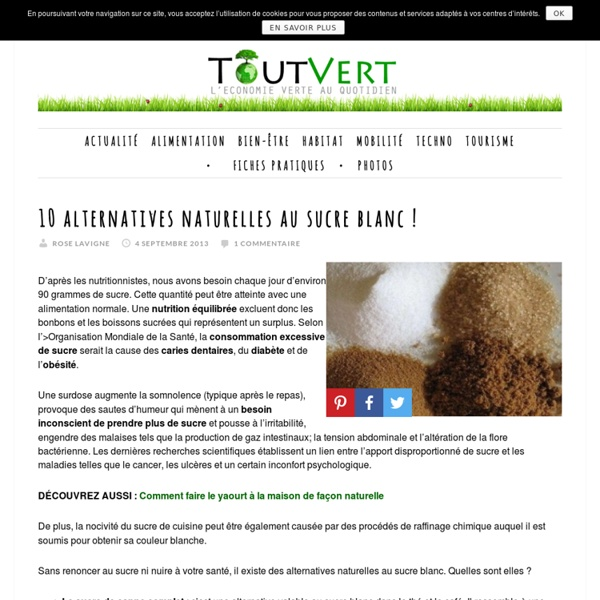 10 alternatives naturelles au sucre blanc !