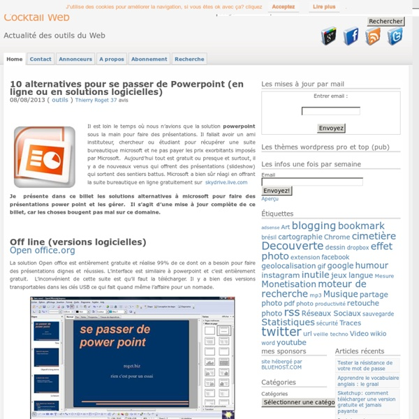 10 alternatives pour se passer de Powerpoint (maj)