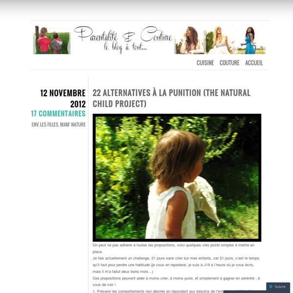 22 alternatives à la punition (The Natural Child Project)