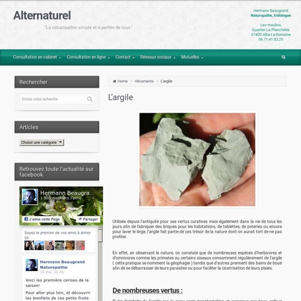 Argile, conseils d'Hermann Beaugrand naturopathe