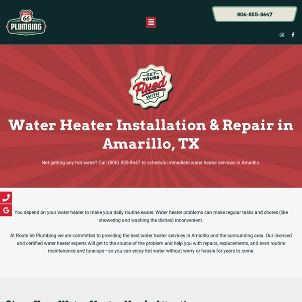 We Provide Water Heaters Services