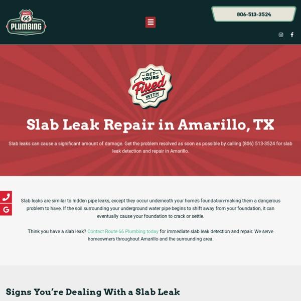 We Provide Slab Leaks Services