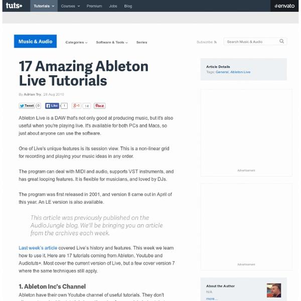 17 Ableton Tutorials