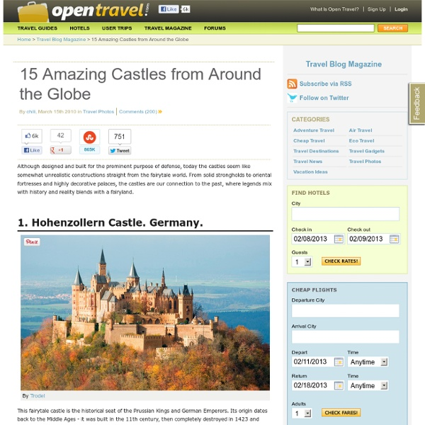 15 Amazing Castles from Around the Globe