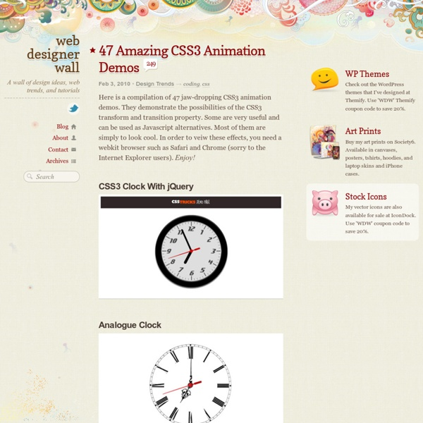47 Amazing CSS3 Animation Demos