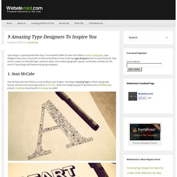 9 Amazing Type Designers to Inspire You