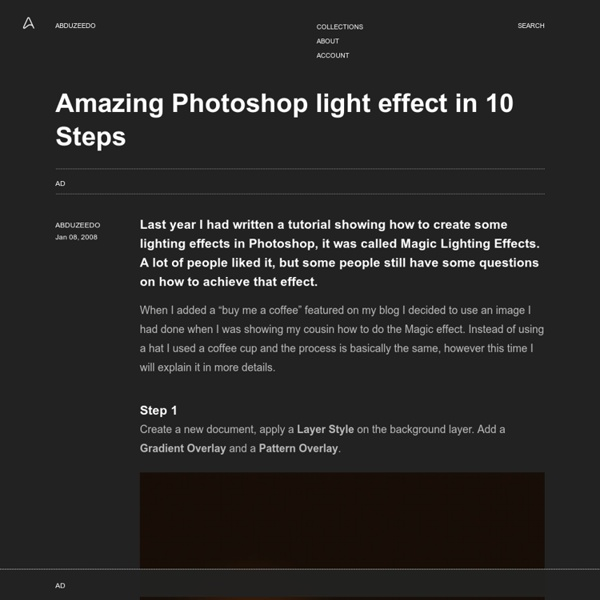 Amazing Photoshop light effect in 10 Steps