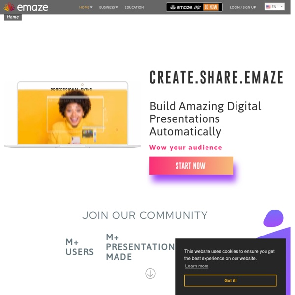 Emaze - Online Presentation Software – Create Amazing Presentations