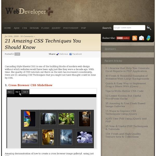21 Amazing CSS Techniques You Should Know