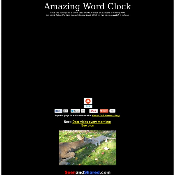Amazing Word Clock