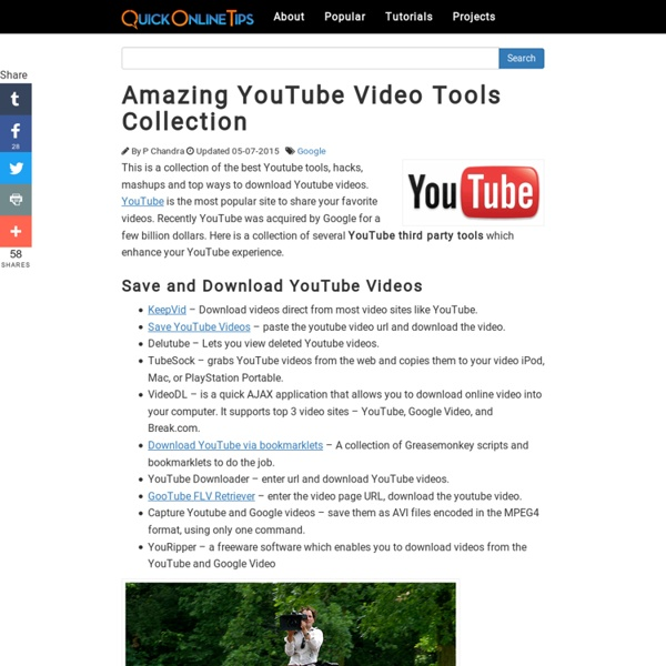 Amazing YouTube Video Tools Collection